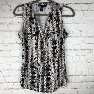 I.N.C Top Blouse Size S Sleeveless (HH)